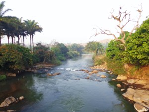 The River Kimbi flows through my village of Misaje, Northwest, Cameroon